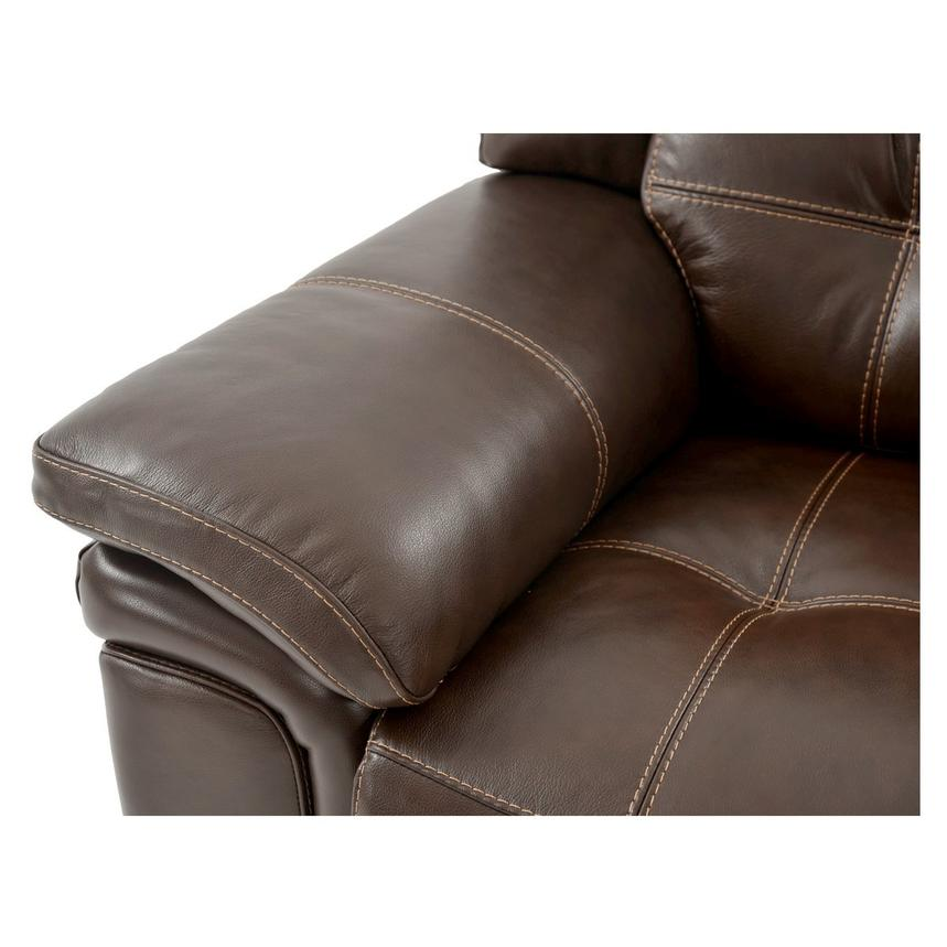 Stallion Brown Power Motion Leather Recliner  alternate image, 7 of 8 images.