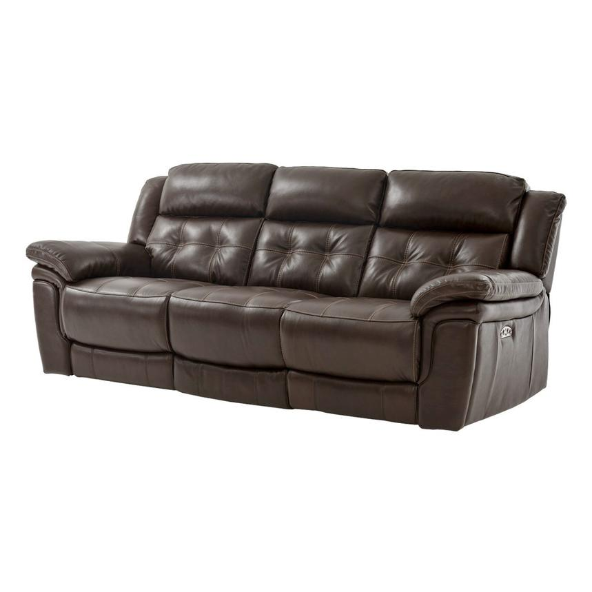 Stallion Brown Leather Power Reclining Sofa  main image, 1 of 8 images.
