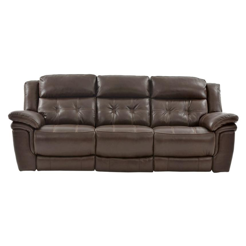 Stallion Brown Leather Power Reclining Sofa  main image, 1 of 9 images.