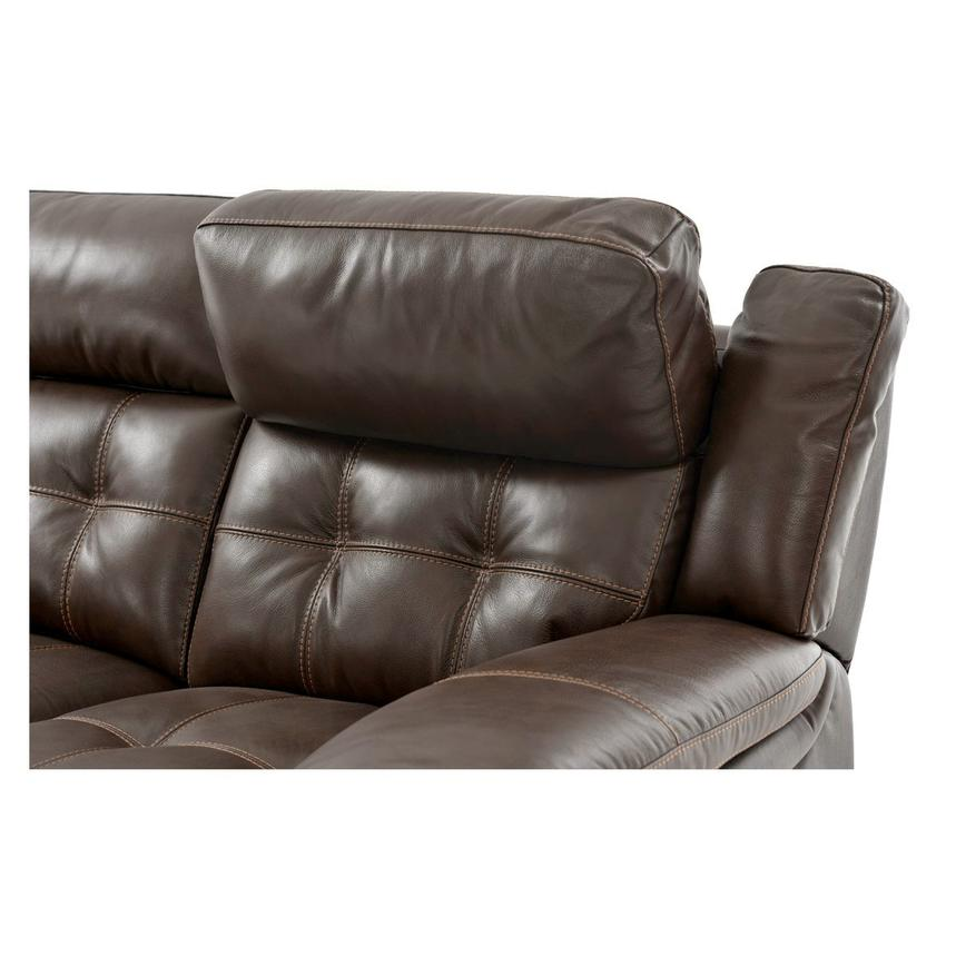 Stallion Brown Leather Power Reclining Sofa  alternate image, 6 of 8 images.