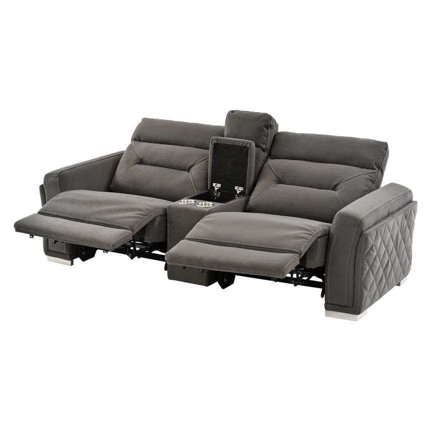 Kim Gray Power Motion Sofa w/Console  alternate image, 2 of 10 images.