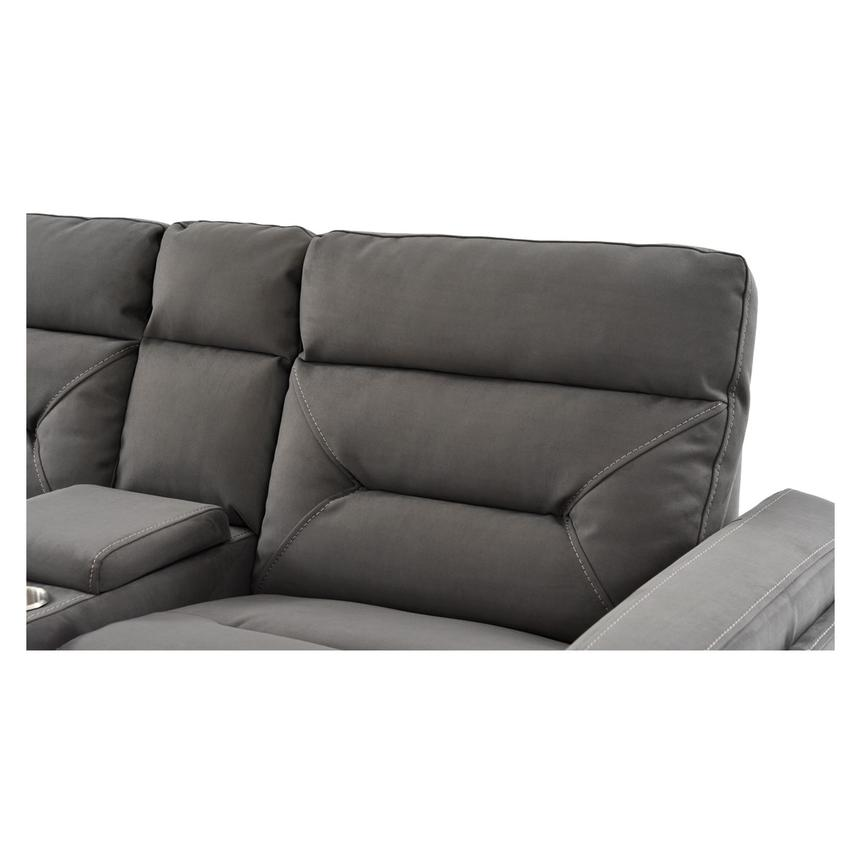 Kim Gray Power Reclining Sofa w/Console  alternate image, 11 of 13 images.