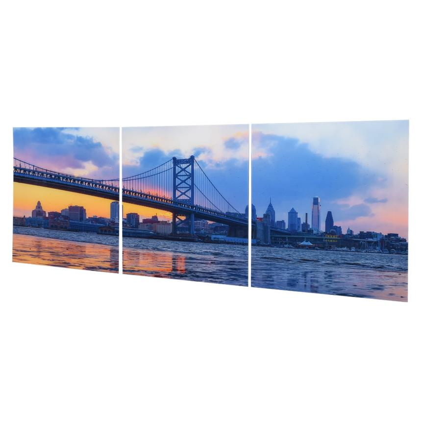 Franklin Bridge Set of 3 Acrylic Wall Art  alternate image, 2 of 3 images.