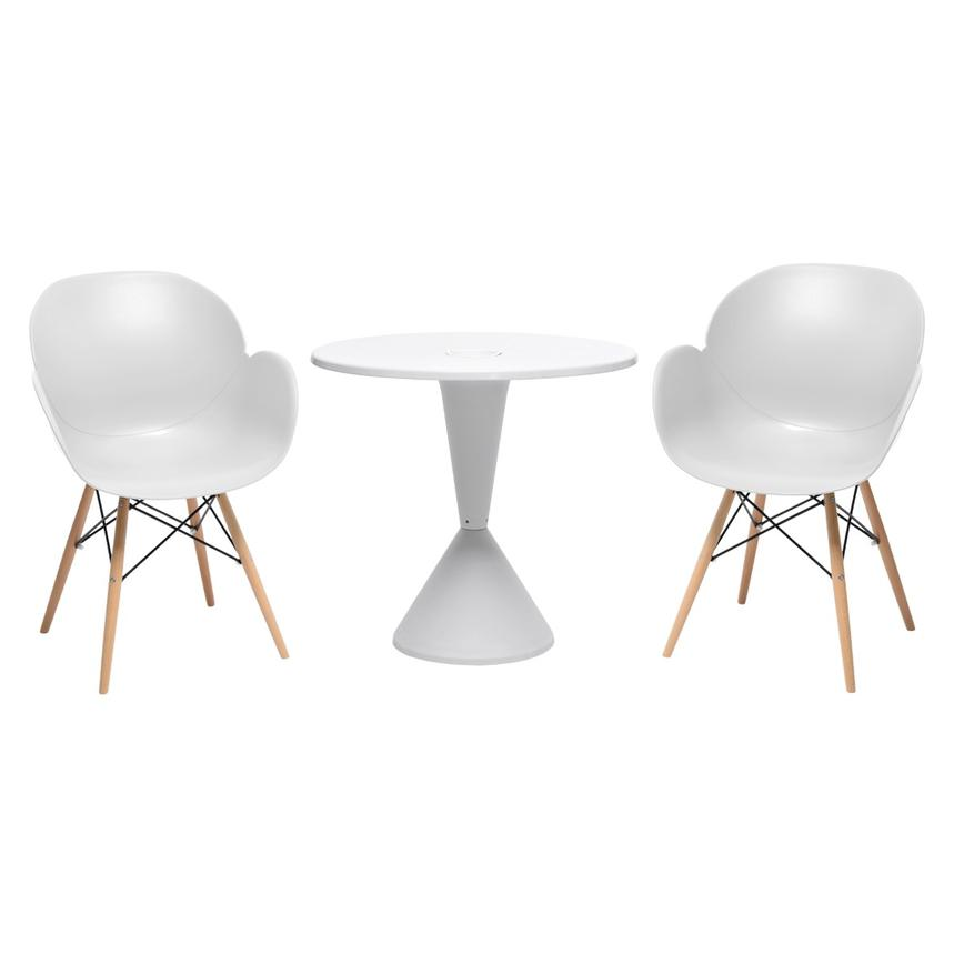 Naples/Salerno White 3-Piece Casual Dining Set  main image, 1 of 8 images.