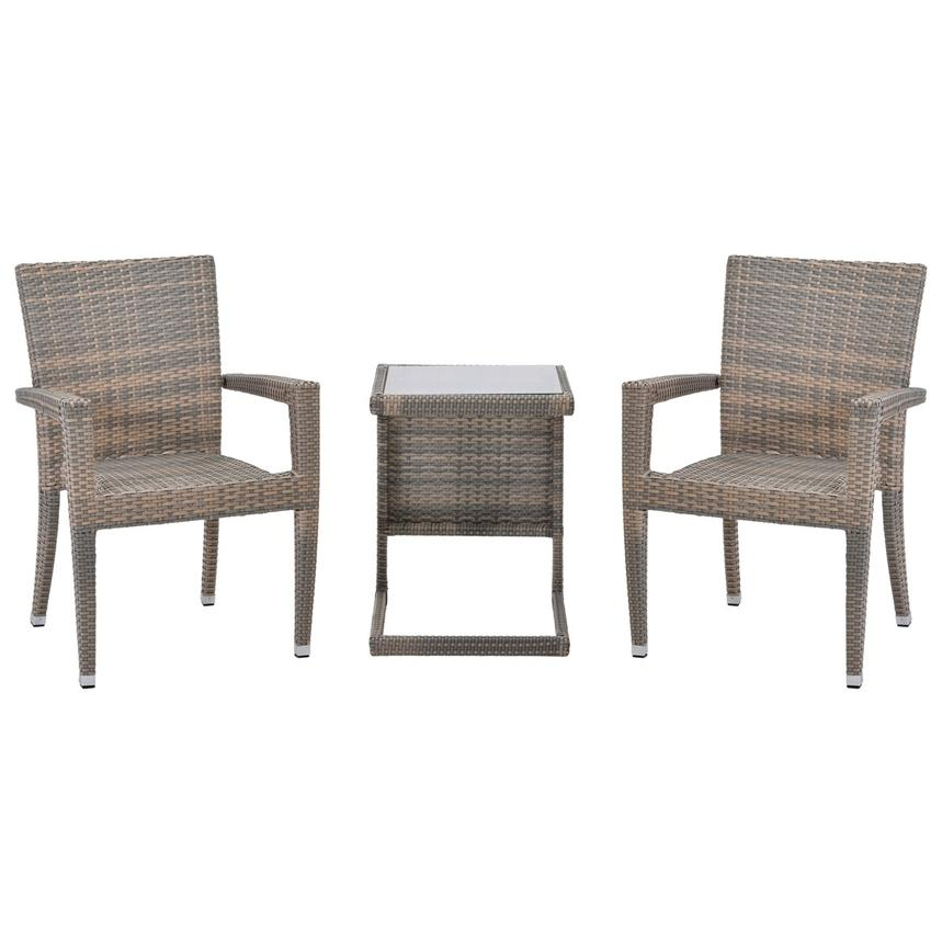 Neilina Brown 3 Piece Patio Set El Dorado Furniture