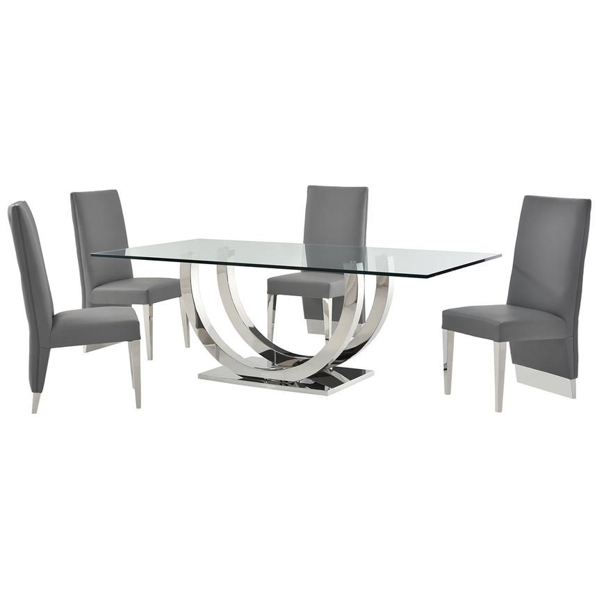 Ulysis Gray 5-Piece Formal Dining Set  main image, 1 of 11 images.