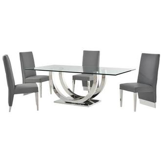 Ulysis Gray 5 Piece Formal Dining Set