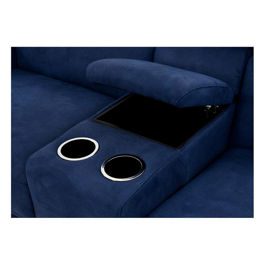 Kathan Blue Power Motion Sofa w/Right & Left Recliners  alternate image, 7 of 12 images.
