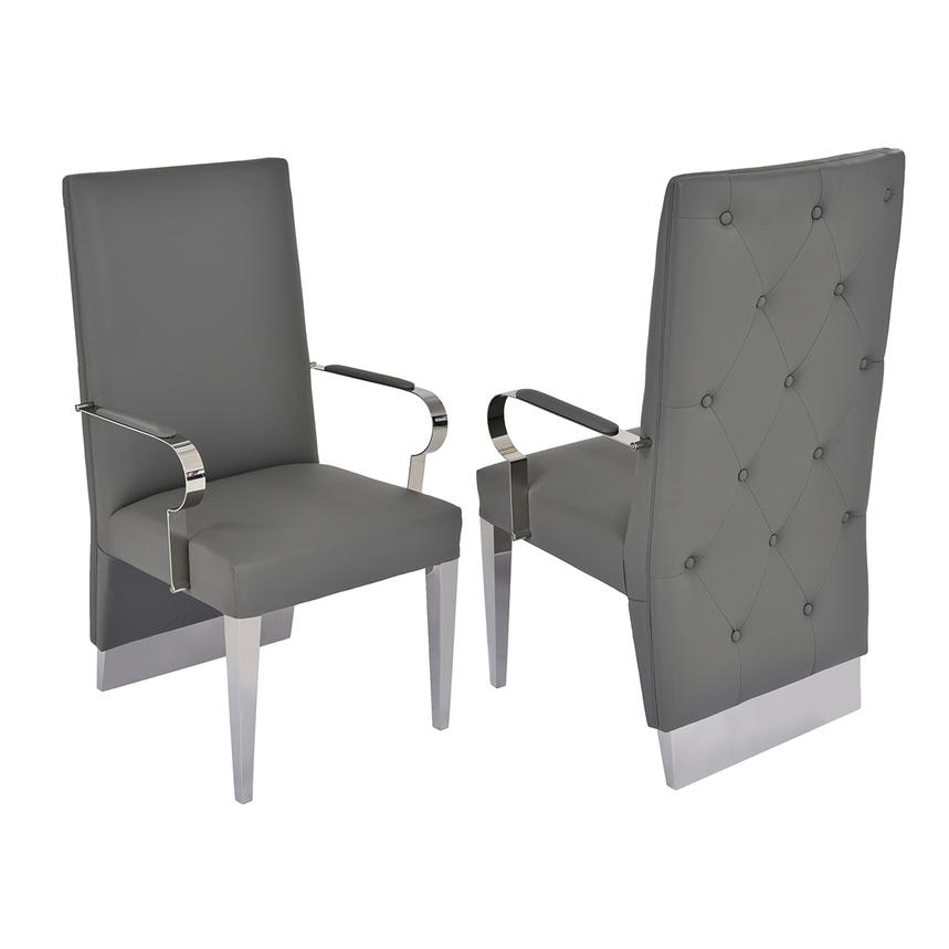 Ulysis Gray Arm Chair  main image, 1 of 6 images.