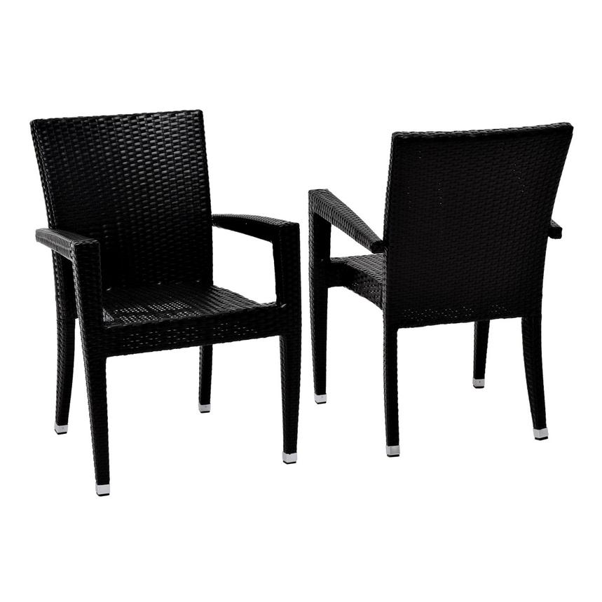Gerald/Neilina Black 3-Piece Patio Set  alternate image, 6 of 10 images.