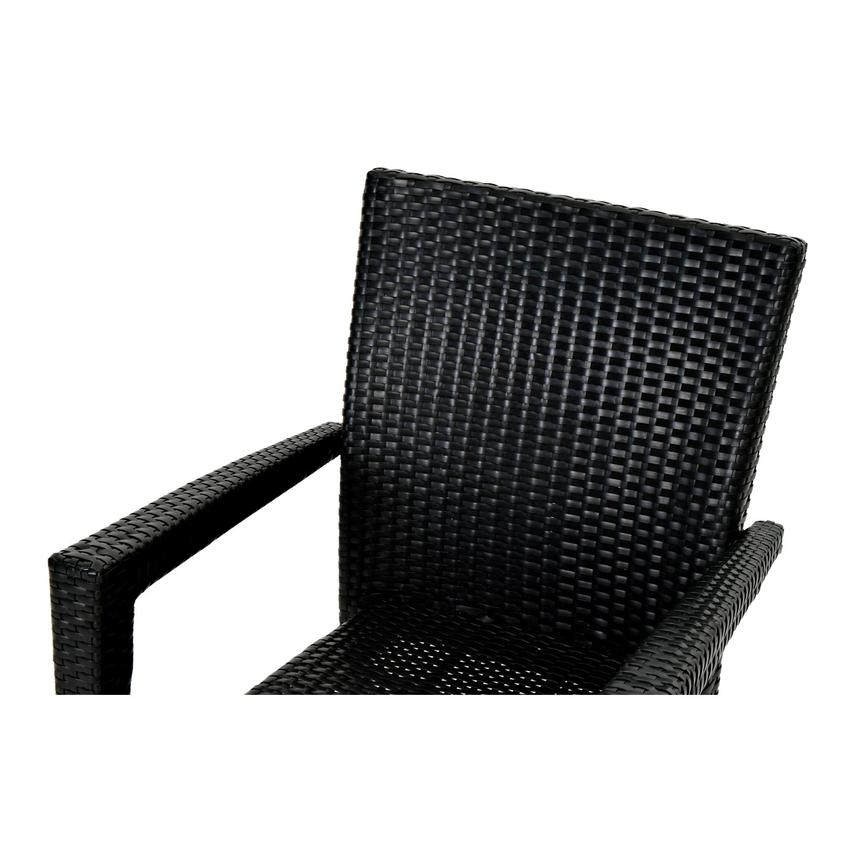 Gerald/Neilina Black 3-Piece Patio Set w/10mm Glass Top  alternate image, 7 of 9 images.