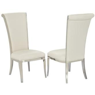 Joy White Side Chair
