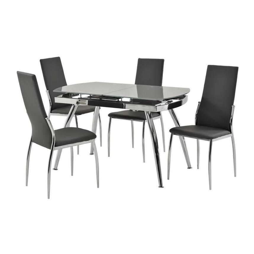 Luna Gray 5-Piece Casual Dining Set  main image, 1 of 11 images.
