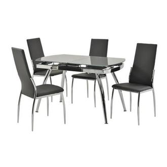 Luna Gray 5-Piece Casual Dining Set