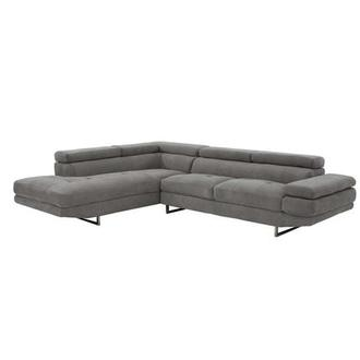 Taheri Gray Corner Sofa w/Left Chaise