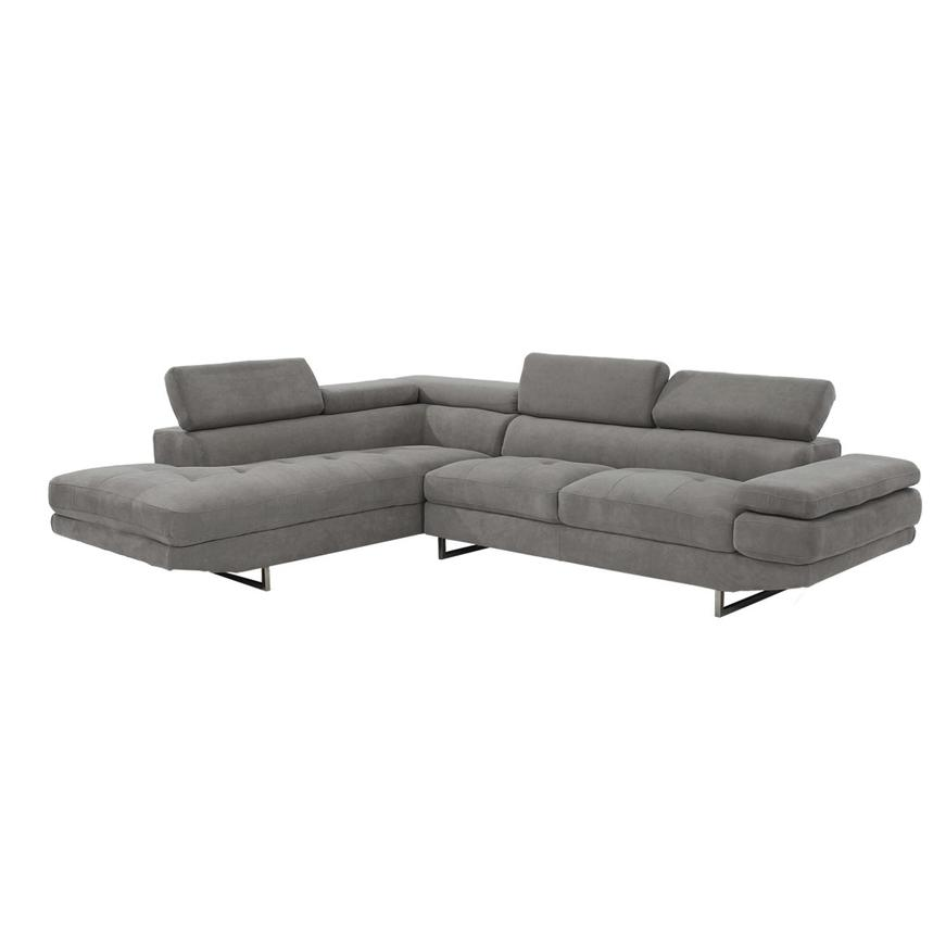 Taheri Gray Sofa w/Left Chaise  alternate image, 2 of 7 images.