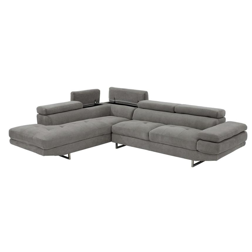 Taheri Gray Corner Sofa w/Left Chaise  alternate image, 3 of 8 images.