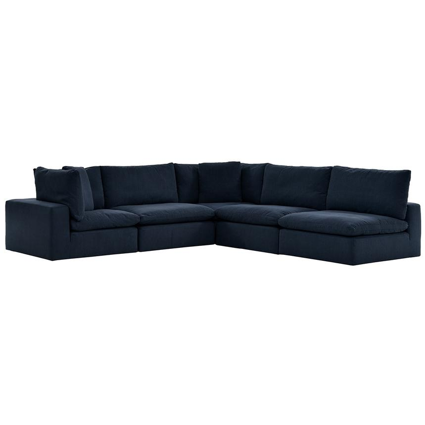 Nube II Blue Sectional Sofa  main image, 1 of 10 images.