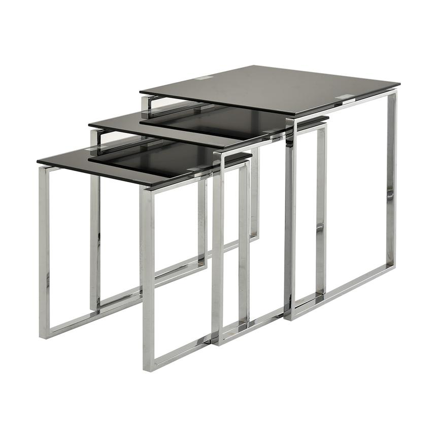 Katrine Black Nesting Tables Set of 3  main image, 1 of 5 images.