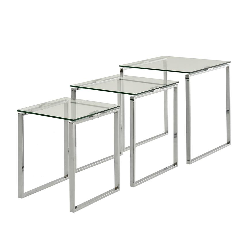 Katrine Clear Nesting Tables Set of 3  alternate image, 2 of 5 images.