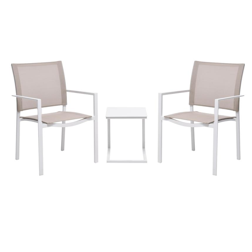 Mykonos Cream 3 Piece Patio Set El Dorado Furniture
