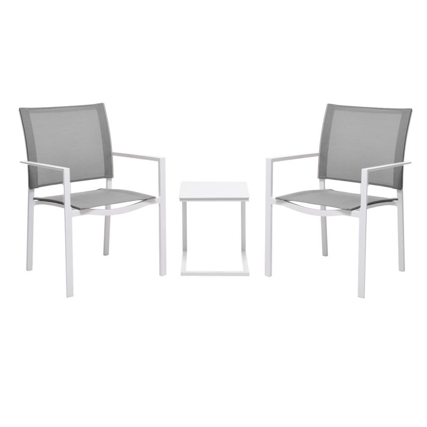 Mykonos Gray 3-Piece Patio Set  main image, 1 of 8 images.