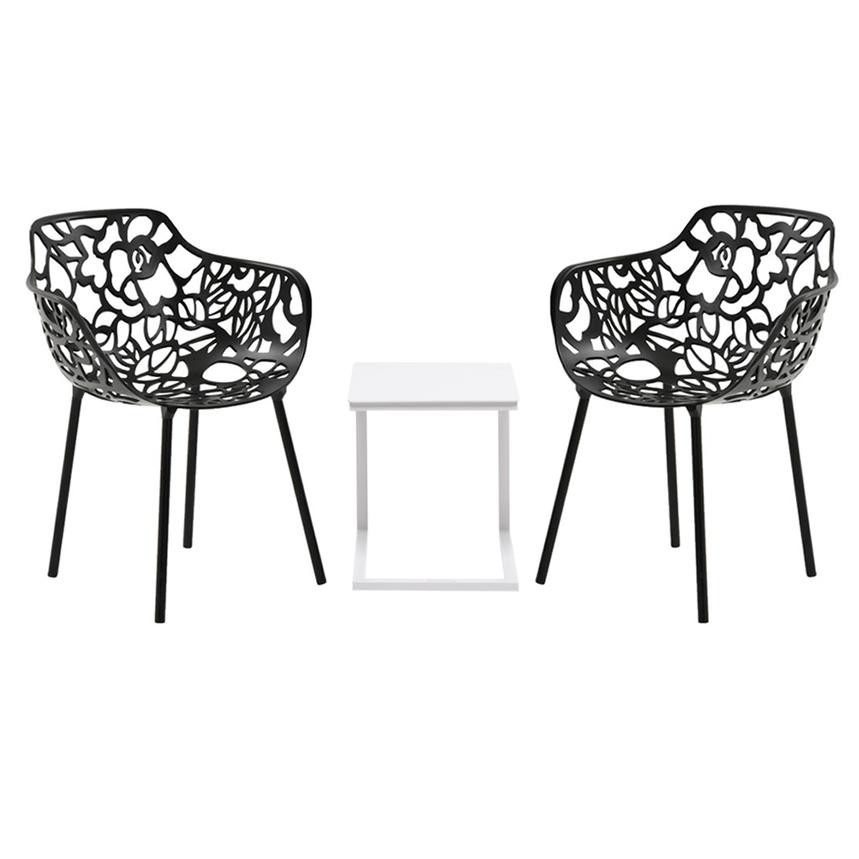 Mykonos Rosie Black 3 Piece Patio Set El Dorado Furniture