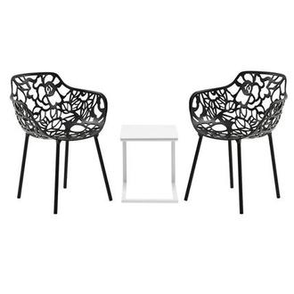 Mykonos/Rosie Black 3-Piece Patio Set