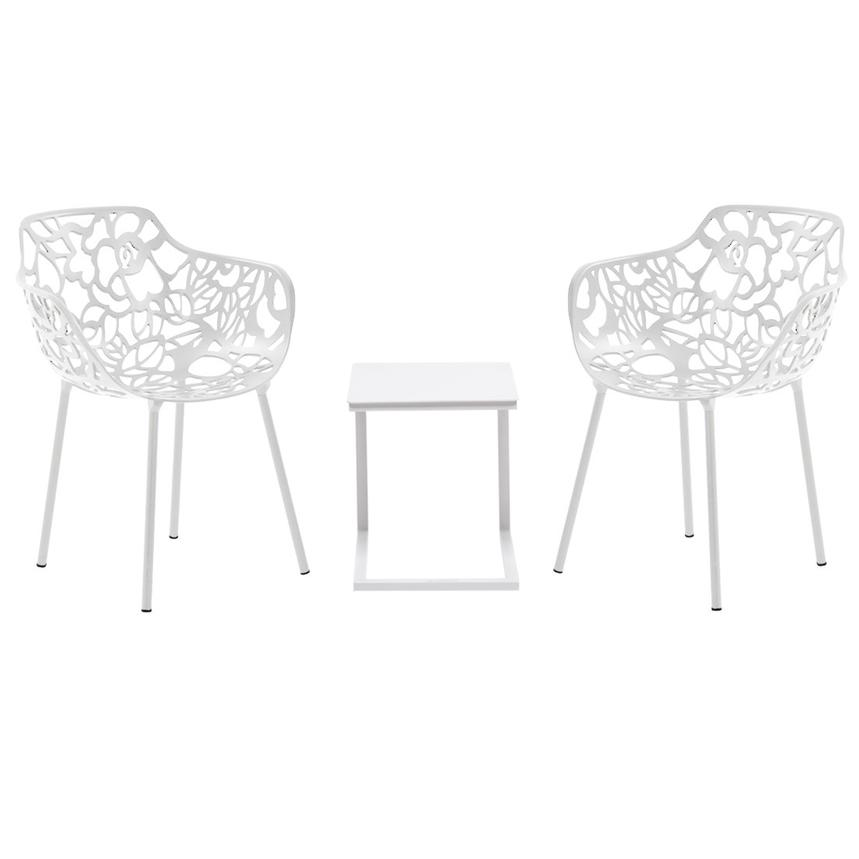Mykonos Rosie White 3 Piece Patio Set El Dorado Furniture