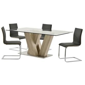 Solimar Gray 5-Piece Dining Set