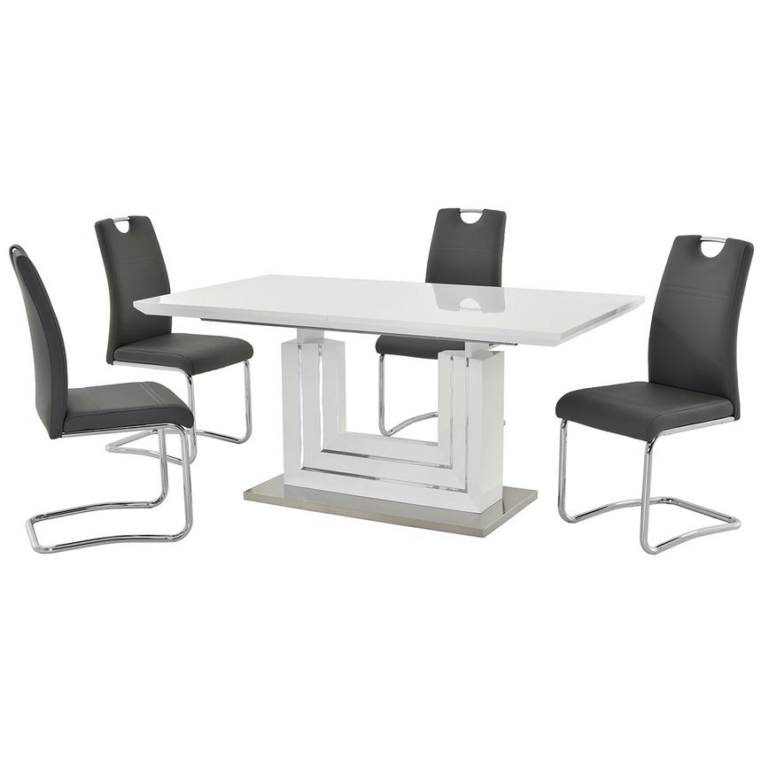 Lila Gray 5-Piece Dining Set  main image, 1 of 12 images.