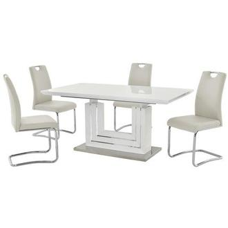 Lila White 5-Piece Casual Dining Set