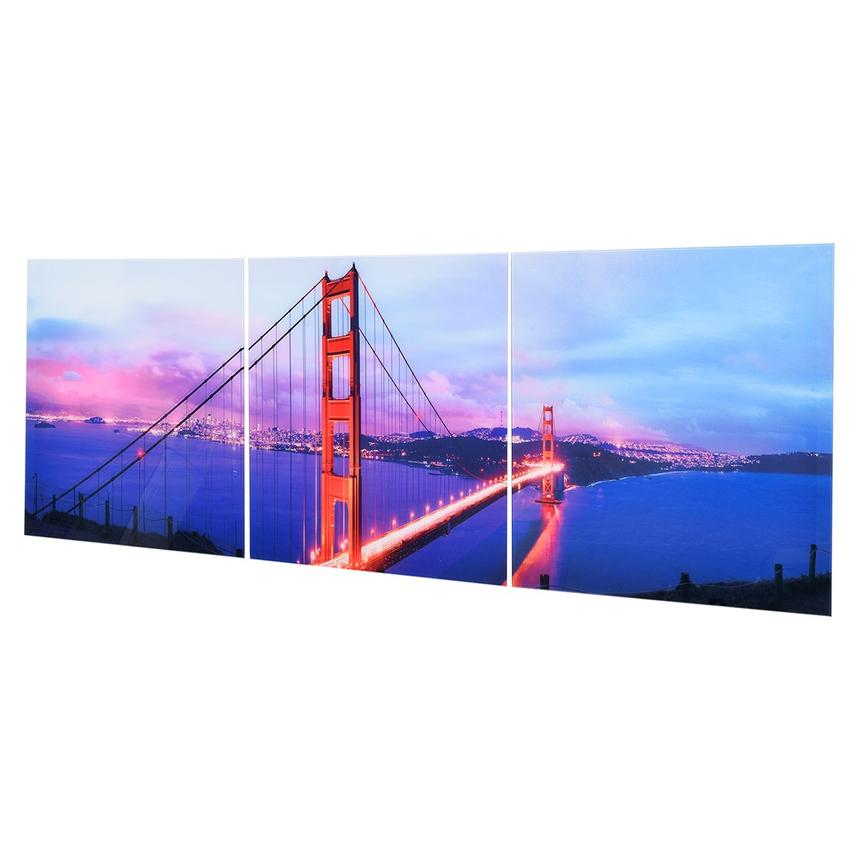 Golden Gate Set of 3 Acrylic Wall Art  alternate image, 2 of 3 images.
