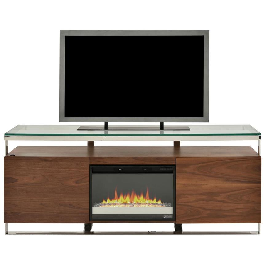 Calypso Walnut Faux Fireplace w/Remote Control  main image, 1 of 7 images.