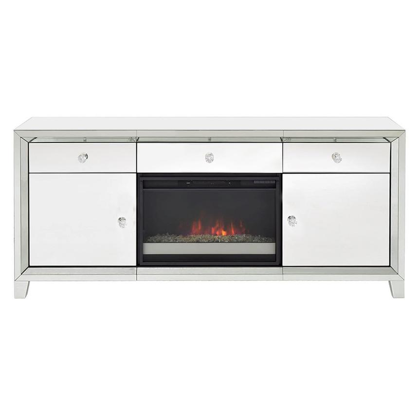 Amia White Faux Fireplace w/Remote Control  main image, 1 of 7 images.