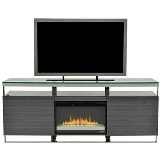 Calypso Gray Faux Fireplace w/Remote Control