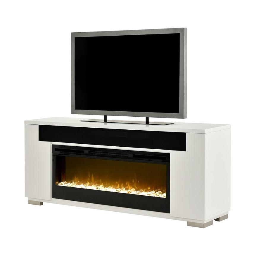 Mile White Electric Fireplace w/Speakers  main image, 1 of 14 images.