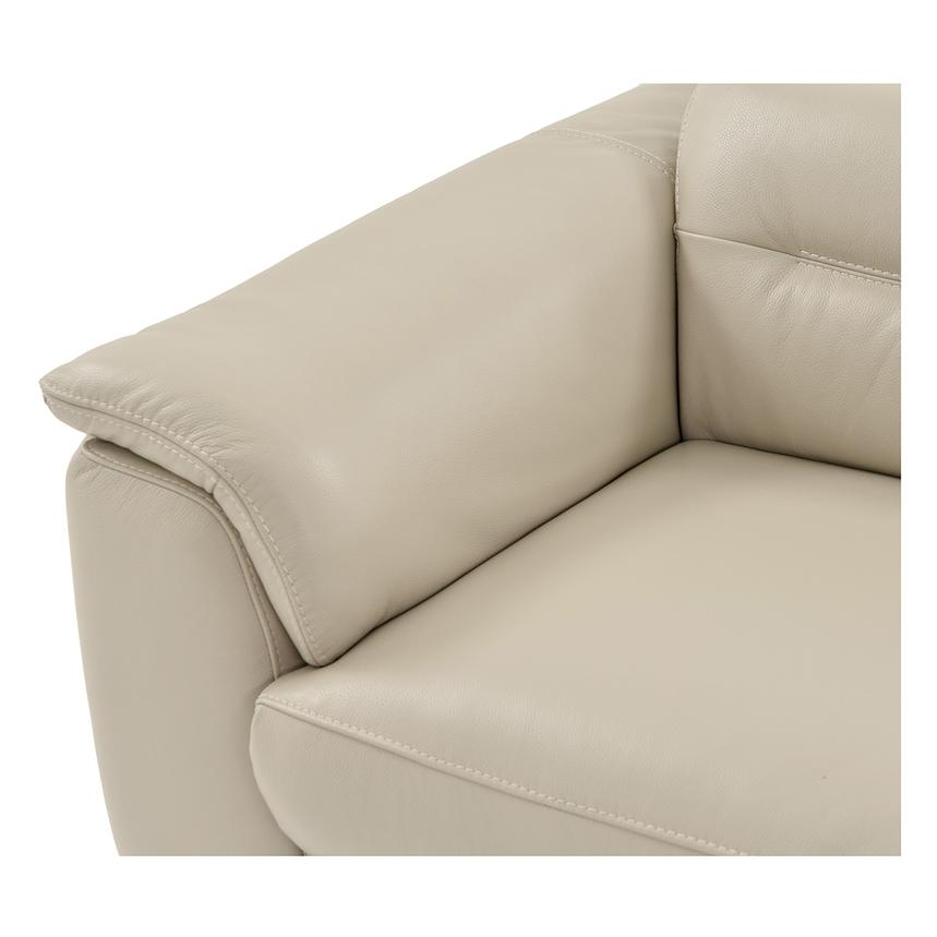 Anabel Cream Leather Power Reclining Loveseat  alternate image, 7 of 15 images.