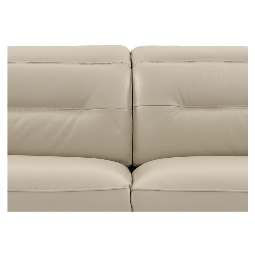 Anabel Cream Leather Power Reclining Loveseat  alternate image, 6 of 11 images.