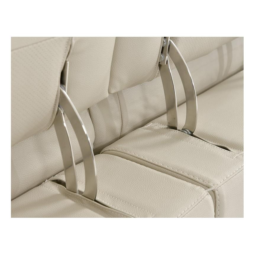 Anabel Cream Power Motion Leather Loveseat  alternate image, 9 of 11 images.
