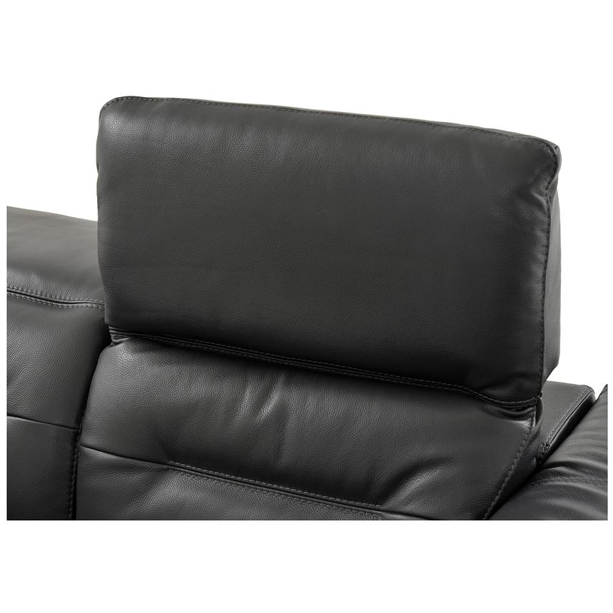 Anabel Gray Power Motion Leather Loveseat  alternate image, 7 of 9 images.