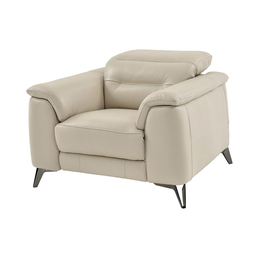Anabel Cream Leather Power Recliner  main image, 1 of 9 images.