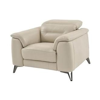 Anabel Cream Leather Power Recliner