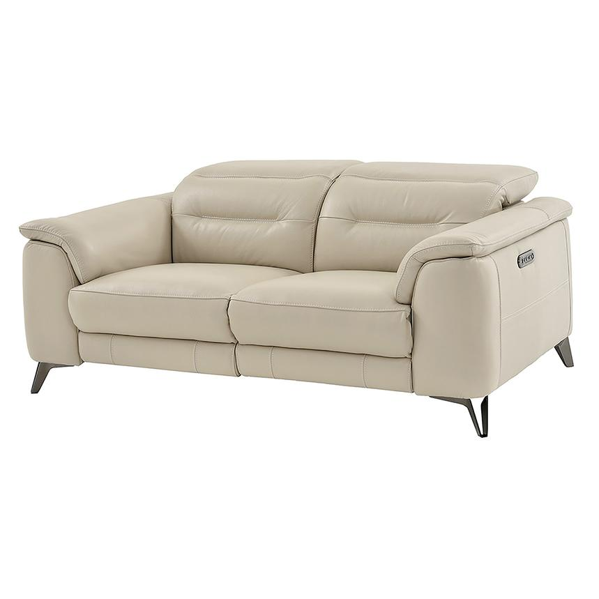 Anabel Cream Power Motion Leather Sofa  main image, 1 of 11 images.