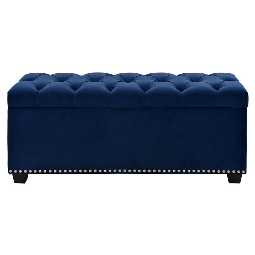 Majestic Blue Storage Bench  main image, 1 of 6 images.
