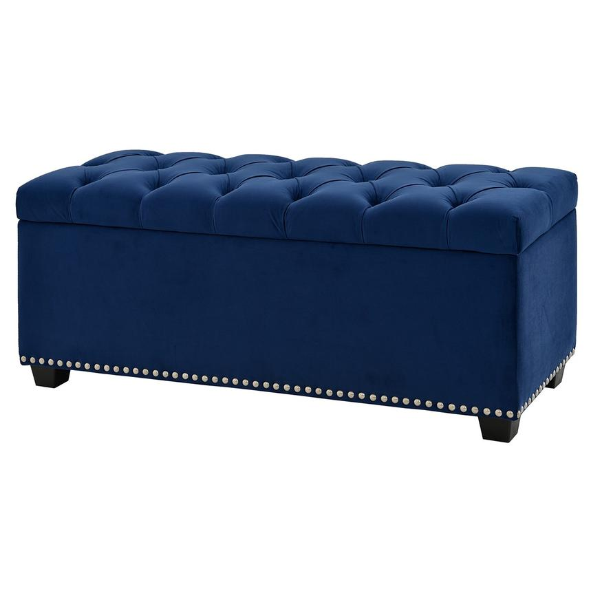 Majestic Blue Storage Bench  alternate image, 2 of 6 images.