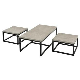 Atlus Gray 3-Piece Table Set By Set Only