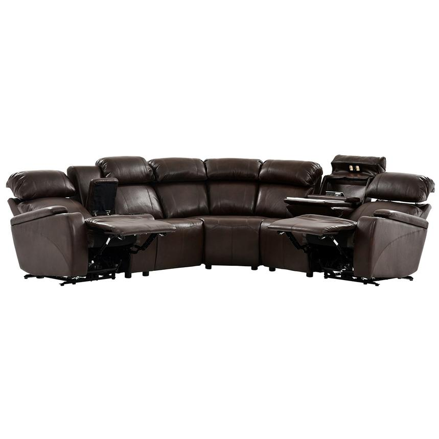 Magnetron Brown Power Motion Sofa w/Right & Left Recliners  alternate image, 2 of 12 images.