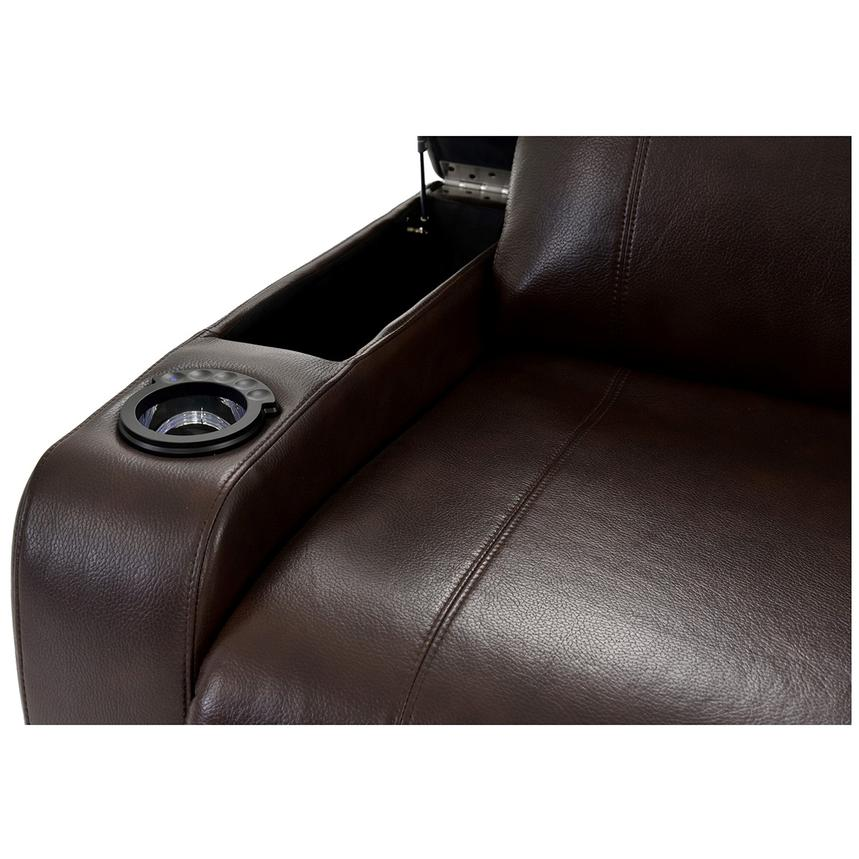 Magnetron Brown Power Motion Sofa w/Right & Left Recliners  alternate image, 7 of 12 images.