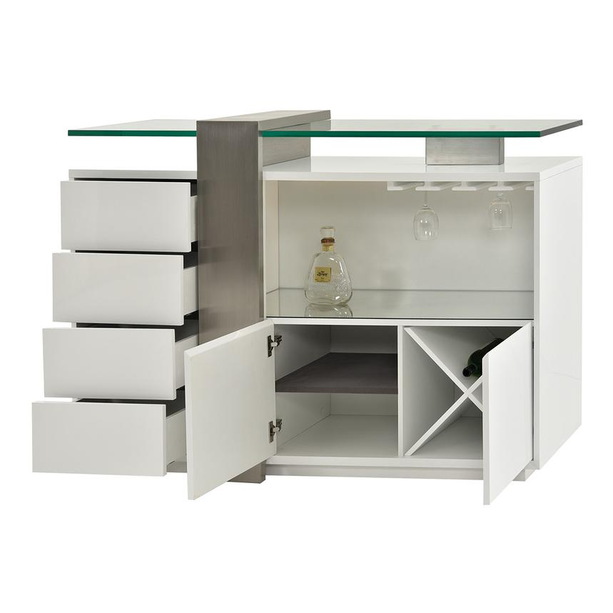 Totem White Bar Cabinet El Dorado Furniture